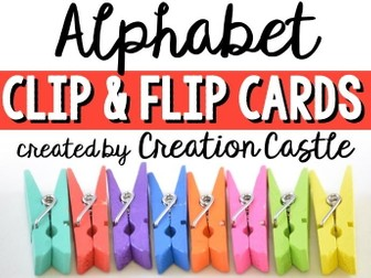Alphabet Clip Cards Center
