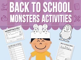 Back to School - Monsters Love School - Activities