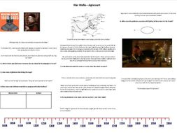 War Walks - Agincourt - Worksheet to support the BBC Documentary with Richard Holmes