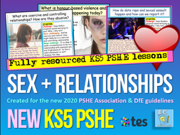 Relationships and Sex Education KS5 PSHE RSE