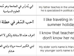 Arabic GSCE 9-1 Speaking Flashcards (140 cards)