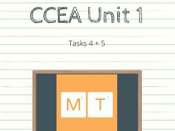 CCEA GCSE Unit 1 Exam Task 4 and 5