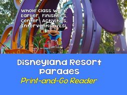 Print-and-Go Reader: 5-9 - Disneyland Resort Parades SPaG, Non-Fiction, CCSS Lessons for Centers