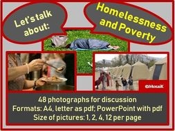 Homelessness and Poverty : picture cards for discussion