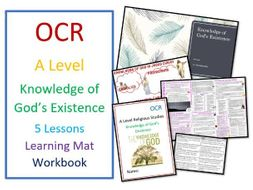 OCR A Level: Knowledge of God's Existence - Whole Unit including Learning Mat and Workbook