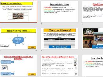 Place study - Challenges in Kenya (Lesson and resources).