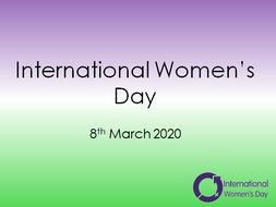 International Women's Day Assembly KS1 and KS2