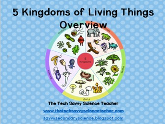 5 Kingdoms of Living Things (Classification) Overview Presentation