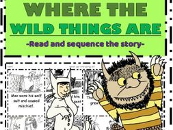 Where the wild things are: Read sequence & colour the story cut & paste activity