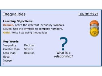 Algebra 17/11 Inequalities