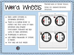 Word Wheels: Unscramble the Sentence