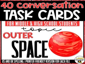 Conversation Starter Cards | Space Exploration | Social Skills for Middle&High