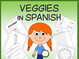 Spanish Vegetables Vocabulary Sheets, Worksheets, Matching Game