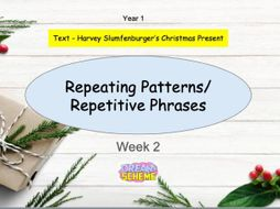 Year 1: Repetitive Phrases and Repeating Patterns  (Week 2 of 2).