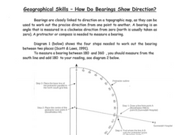 How do Bearings show Direction? Worksheet
