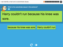 I can identify a main and a subordinate clause - Interactive Activity - Year 3 Spag