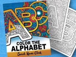 Color the Alphabet | Coloring book for kids and adults | Printable PDF coloring pages A-Z