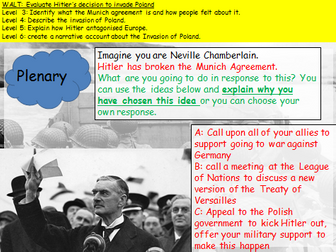 KS3 Invasion of Poland (WW2) Narrative account lesson