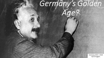 How far did Germany experience a Golden Age during the 1920s?