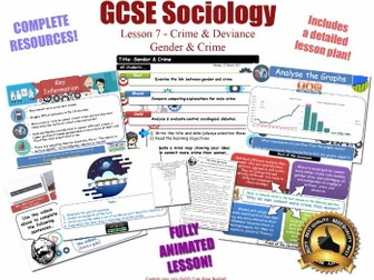 Gender, Crime & Criminality - Crime & Deviance L7/20 [ AQA GCSE Sociology - 8192] Male Female Crime