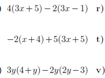 Expanding brackets and factorising  worksheet (with solutions)