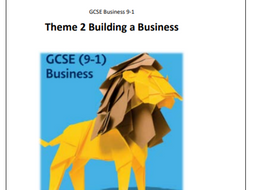 GCSE Business Theme 2 Content Pack including knowledge organisers, PLC's and glossary (SEN)