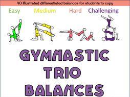 Gymnastics Trio balances