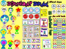 Birthday Brag Tags- 85 tags