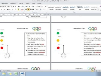 Indoor Olympic Resource Cards (Athletics)