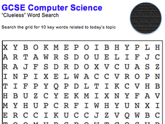 GCSE Computer Science: Word puzzles (Data representation)