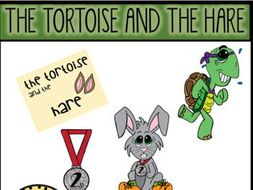 The Tortoise and the Hare (Aesop's Fable) Clip Art