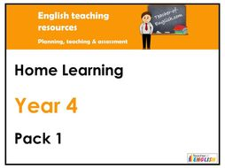 Year 4 English - Home Learning Pack 1