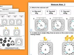 Year 3 Measure Mass 2 Summer Block 4 Maths Homework Extension