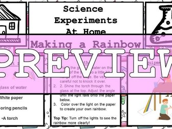 Science Home Experiement - Make a Rainbow