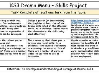 Drama Home Learning Bundle