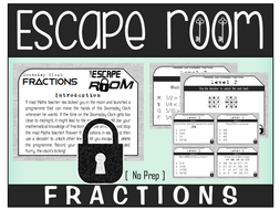 FRACTIONS ESCAPE ROOM Year 6 SATs