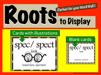 Roots to Display Affixes Suffixes and Roots
