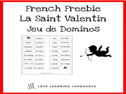 Jeu de Dominos - French Valentine's Day - La Saint Valentin