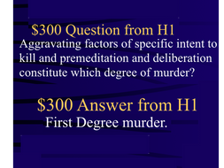 Jeopardy Law Game ~ Fundamentals Criminal Law ~ Criminal Offenses Defenses