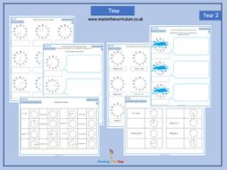 Year 2 Differentiated Time Worksheets By Closingthegapltd