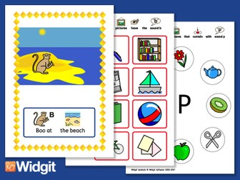 """Sound Stories """"B"""" and """"P"""" - Pack with Widgit Symbols"""