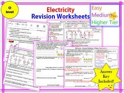 Electricity Revision Worksheet -O level