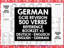 GERMAN VERBS REFERENCE GERMAN-ENGLISH & ENGLISH-GERMAN