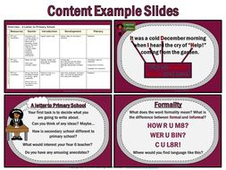 Writing a Letter to Primary School (49 slide PowerPoint and 10 worksheets)