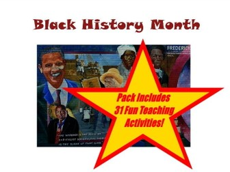 Black History Month - PowerPoint + 31 Fun Teaching Activities For These Cards
