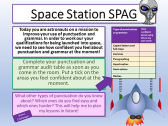 Science Fiction - Punctuation and Grammar Workshop