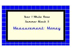 White Rose Maths, Year 1, Summer Block 5, Measurement: Money