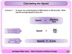 Speed, Distance, Time KS4