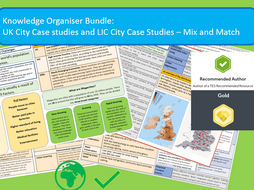 GCSE AQA 9-1: Urban World Case Studies Mix and Match.
