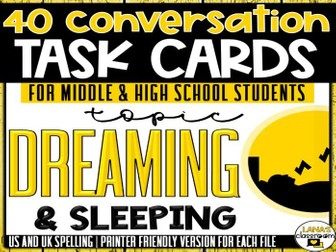 Conversation Starter Cards | Dreaming | Social Skills for Middle&High